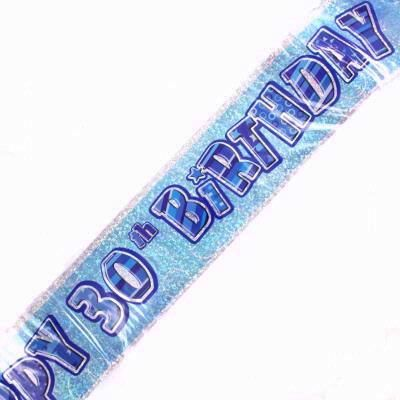 Blue Glitz 30th Foil Banner