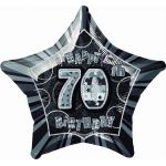 Black Glitz 70th 20 Inch Foil Balloon