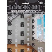 Black Glitz 18th Hanging Decoration