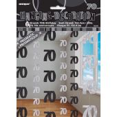 Black Glitz 70th Hanging Decoration