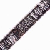 Black Glitz Birthday Foil Banner