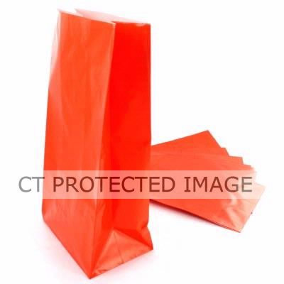 Paper Party Bags Orange (pack quantity 12)