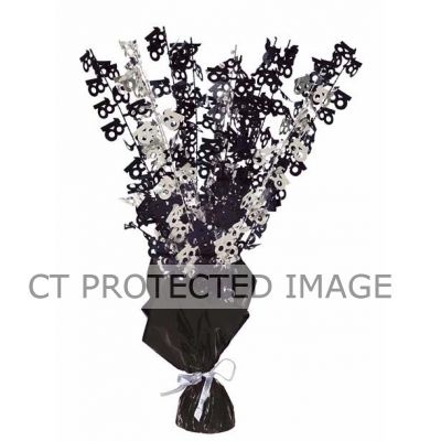 Black Glitz 18th Centerpiece