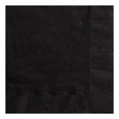 2ply Black Lunch Napkins (pack quantity 20)