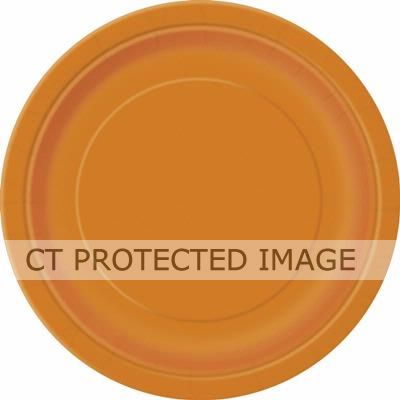 Pumpkin Orange 9 Inch Plates (pack quantity 16)