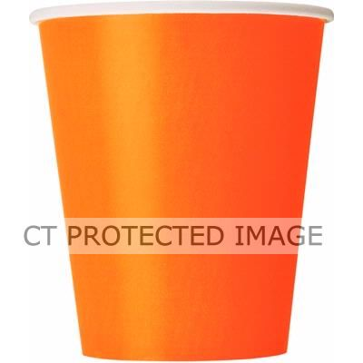 Pumpkin Orange 9oz Cups (pack quantity 14)