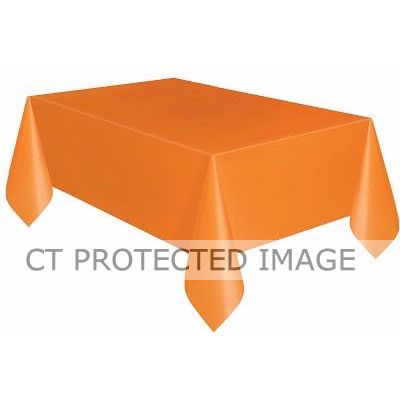 54x108 Inch Pumpkin Orange Plastic Tablecover
