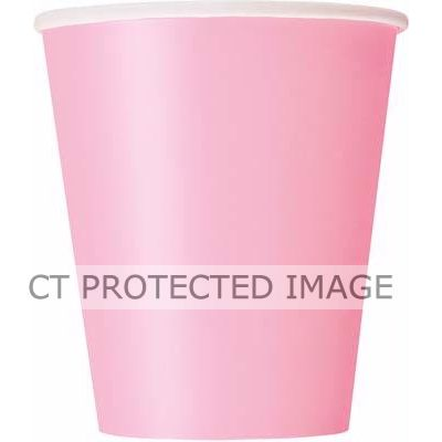  9oz Pastel Pink Cups (pack&nbsp;quantity&nbsp;14) 
