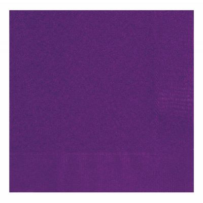  Deep Purple 33cm Napkins (pack&nbsp;quantity&nbsp;20) 