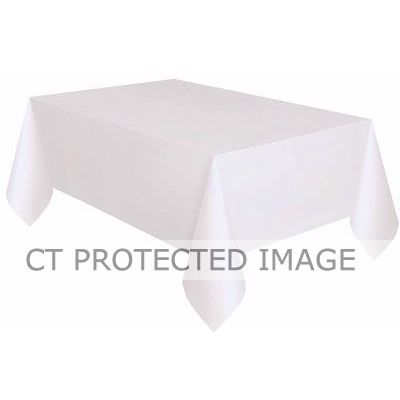 54x108 Inch White Tablecover