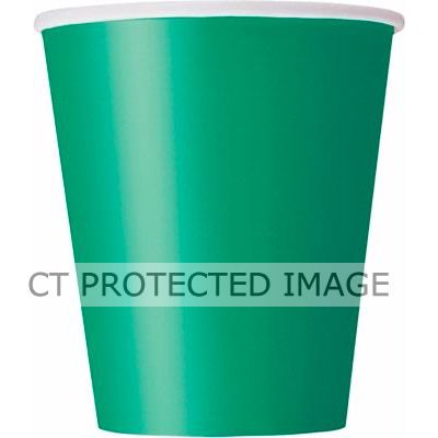  Emerald Green 9oz Cups (pack&nbsp;quantity&nbsp;14) 