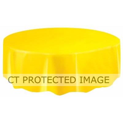 84 Inch Yellow Round Tablecver