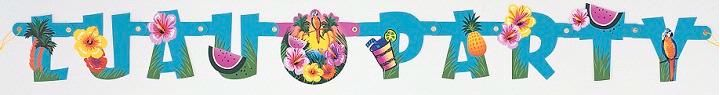 Luau Party Jointed Banner