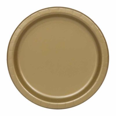  7 Inch Gold Plates (pack&nbsp;quantity&nbsp;20) 