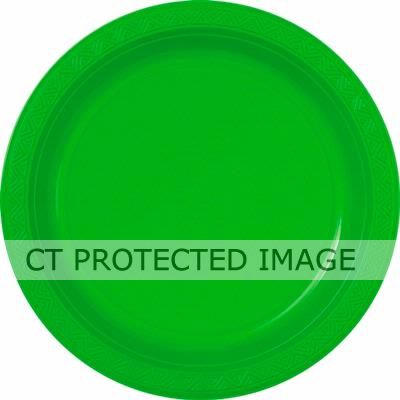  Lime Green 9 Inch Plastic Plates (pack&nbsp;quantity&nbsp;8) 