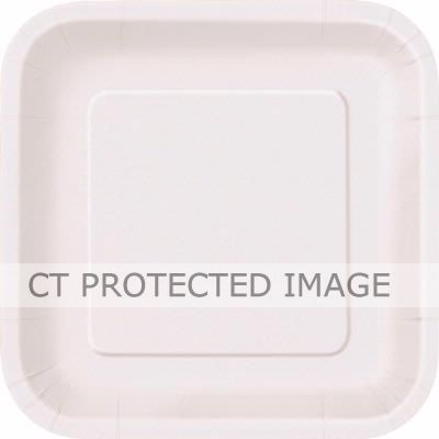  Bright White 9 Inch Square Plates (pack&nbsp;quantity&nbsp;14) 