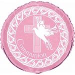 Pink Communion 18 Inch Foil Balloon