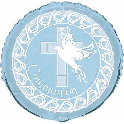 Blue Communion 18 Inch Foil Balloon