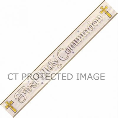 First Communion 12ft Foil Banner