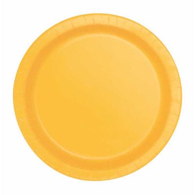  7 Inch Sunflower Yellow Plates (pack&nbsp;quantity&nbsp;20) 