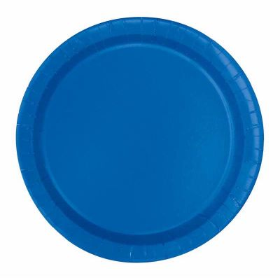 7 Inch Royal Blue Plates (pack quantity 20)