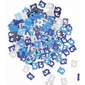 Blue Glitz 13th Foil Confetti