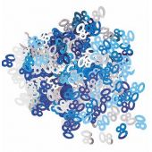 Blue Glitz 80th Foil Confetti