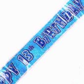 12ft Blue Glitz 13th Banner