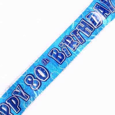 12ft Blue Glitz 80th  Banner