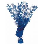 Blue Glitz 60th Centerpiece