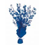 Blue Glitz 70th Centerpiece