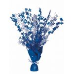Blue Glitz 80th Centerpiece