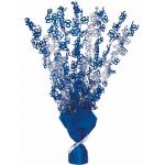 Blue Glitz 90th Centerpiece