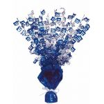 Blue Glitz 100th Centerpiece