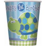 1st Birthday Turtle 9oz Cup (pack quantity 8)