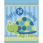1st Birthday Turtle Lootbags (pack quantity 8)