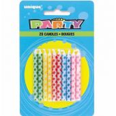 Diamond Dot Birthday Candles (pack quantity 20)
