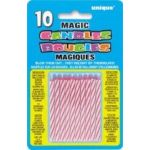  Magic Pink Candles (pack&nbsp;quantity&nbsp;10) 