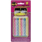 Assorted Large Fast Lite Candles (pack quantity 8)