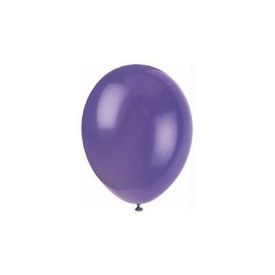 12 Inch Midnight Purple  Balloons (pack quantity 10)