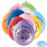  9 Inch Engagement Balloons (pack&nbsp;quantity&nbsp;10) 