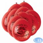 9 Inch 40th Anniversarty Balloons (pack&nbsp;quantity&nbsp;10) 