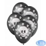12 Inch Jolly Roger Superprint Balloons (pack quantity 5)