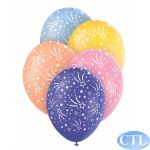  12 Inch Stars Assorted Superprint Balloons (pack&nbsp;quantity&nbsp;5) 