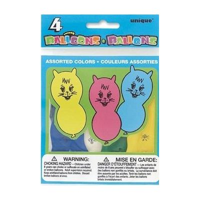 Animal Balloons (pack quantity 4)