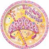 9 Inch Pretty Princess Plates (pack quantity 8)