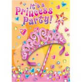 Pretty Princess Invitations (pack quantity 8)