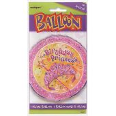 Pretty Princess 18 Inch Foil Balloon