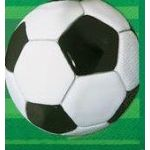  3d Soccer 33cm Napkins (pack&nbsp;quantity&nbsp;16) 