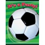 3d Soccer Invitations (pack quantity 8)